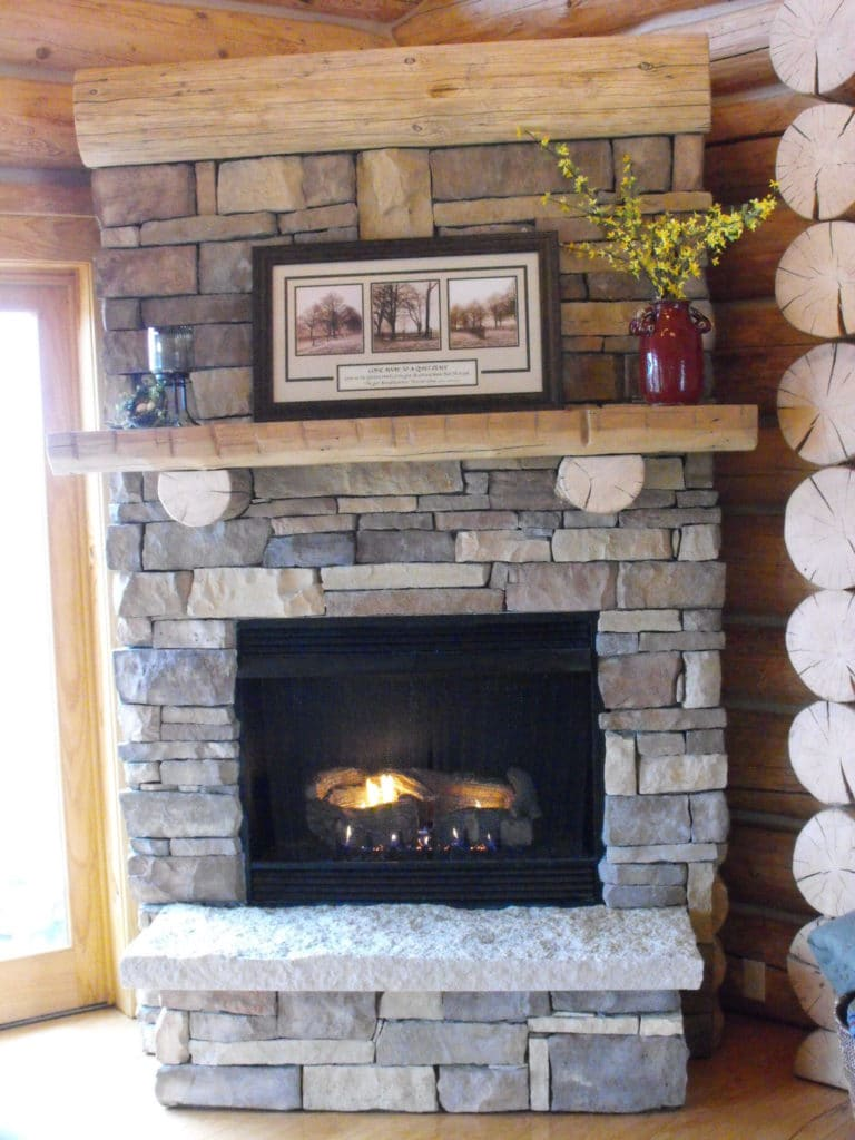 Fireplace at Jabez Retreat Center