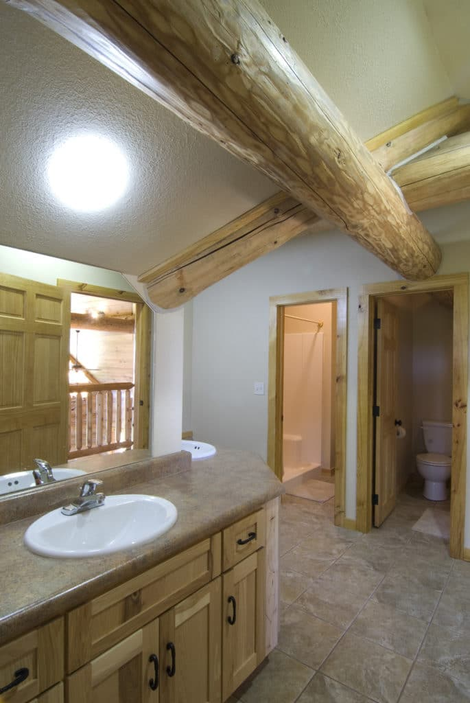 One of the bathrooms at Jabez Retreat Center